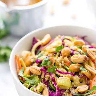 Pad Thai Zucchini Noodle + Quinoa Salad