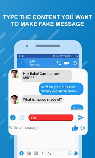 Funny chats - fake messenger 1.0.4 screenshots 8