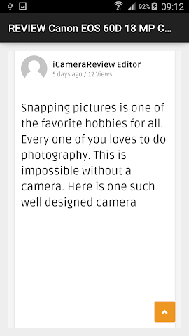 android REVIEW EOS 60D 18 MP Camera Screenshot 1