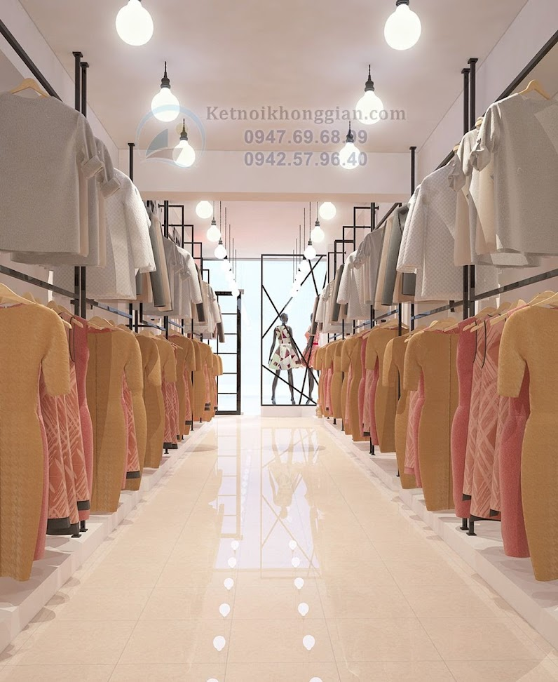 thiết kế shop thời trang diện tích nhỏ hẹp