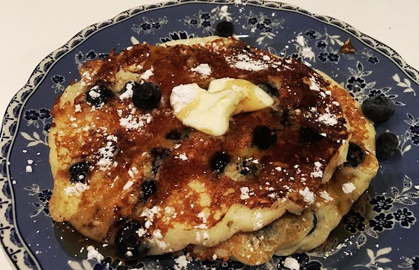 Serve with butter, confectioners' sugar, syrup and more fresh fruit or as you desire...