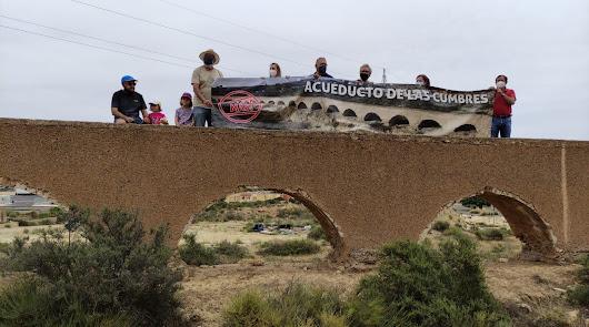 Los vecinos de Huércal intentan salvar el Acueducto de las Cumbres