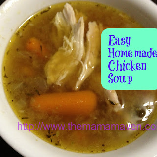 My Dad's Easy Homemade Chicken Soup with Mushrooms.