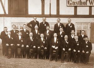 Photo: Wünschendorf im Erzgebirge Männergesangsverein 1911