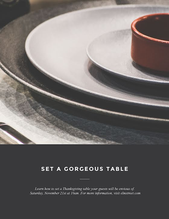 Thanksgiving Table Setting - Thanksgiving Template