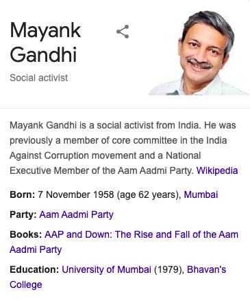 mayank gandhi wikipedia