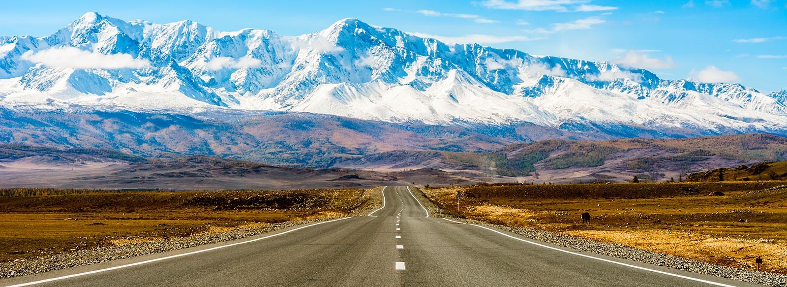Вид на Алтайские горы с Чуйского тракта