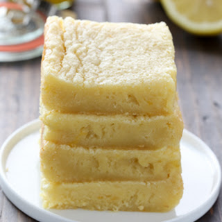 Lemon Curd Blondie Bars.