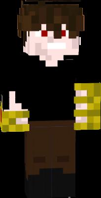 Caçador de monstros com luvas de ouro