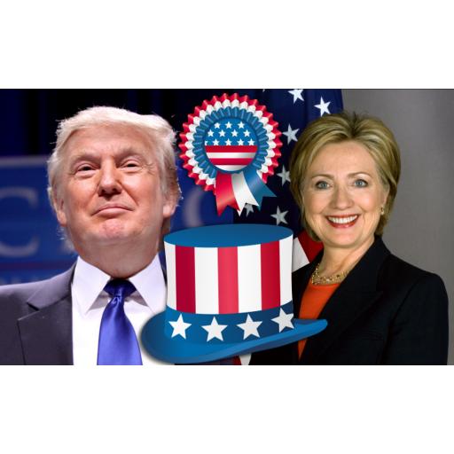 Clinton vs Trump Election 2016 新聞 App LOGO-硬是要APP