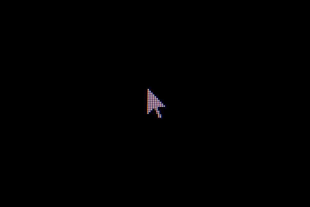 cursor on black background