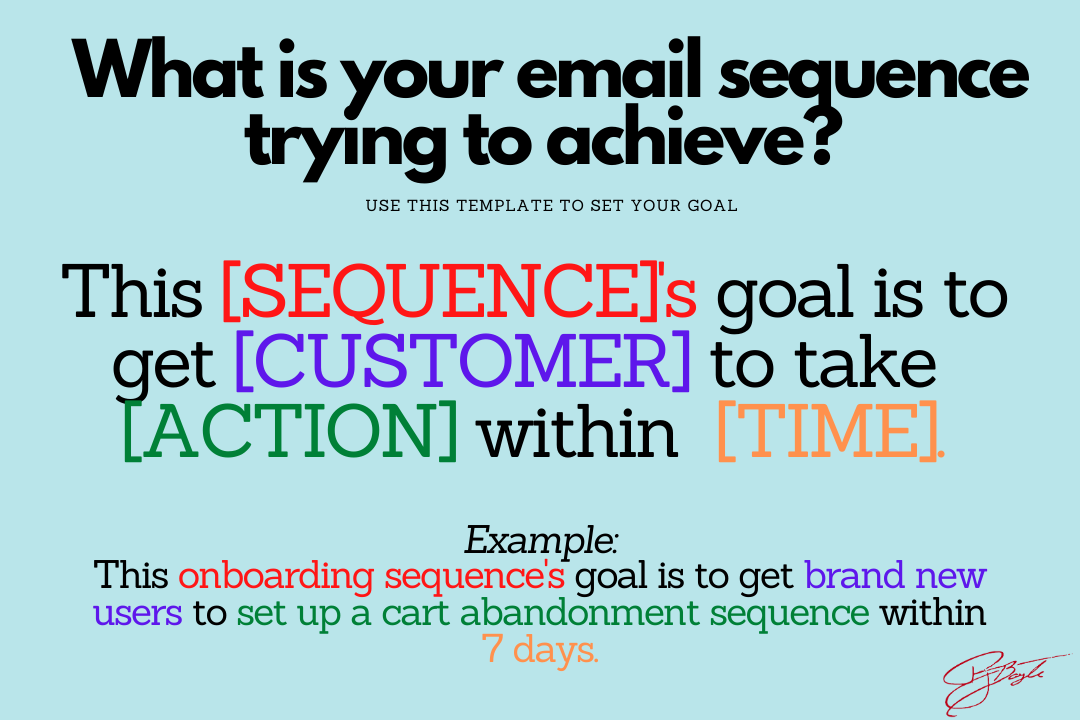 What is the goal of your email sequence?