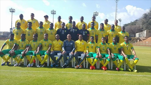 South African national Under-23 side. Picture credits: Safa/Twitter