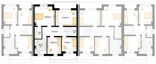 Dąb 2 - Rzut piętra - segment B