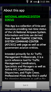 National Airspace System Stat- screenshot thumbnail