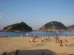 Photo: The beach in San Sebastion on the Atlantic side.