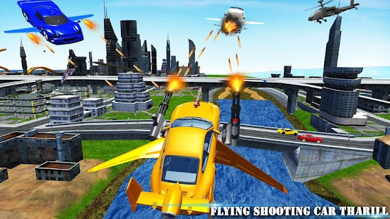 Flying Car Shooting Adventure: Fighting War Sim - náhled