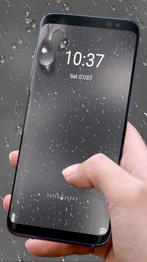 Rainy Water Glass Theme 1.1.1 screenshots 4