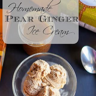 Homemade Pear Ginger Ice Cream