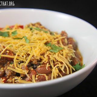 Slow Cooker Beef and Bean Chili.