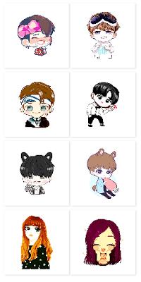 Download BTS Pixel Art