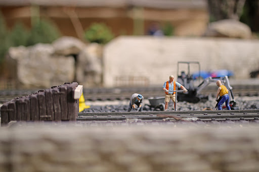 Zone de chantier au Jarditrain