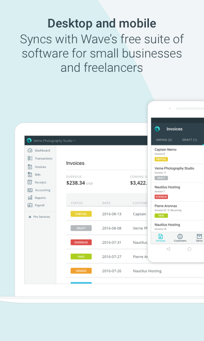how to create an invoice in wave
