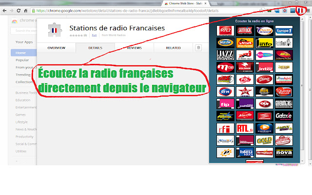 Stations de radio Francaises