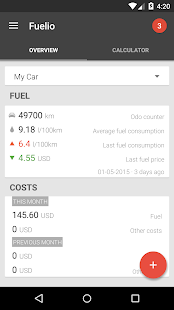 Fuelio: Fuel log & costs- screenshot thumbnail