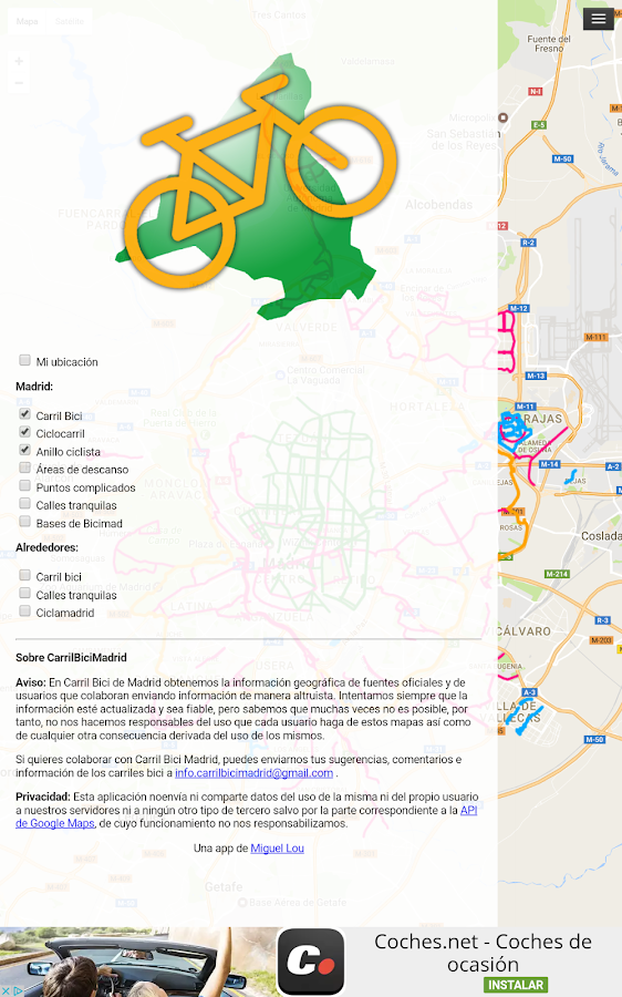 Carril Bici Madrid- screenshot