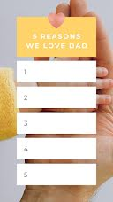 Reasons We Love - Father's Day item