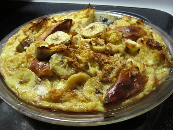 Banana Cream Cheese Bread Pudding