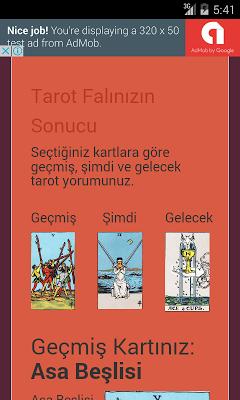 Tarot Falı - Üç Kart - screenshot