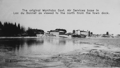 Photo: Lac du Bonnet MGAS hangar and McIntosh farm to right.