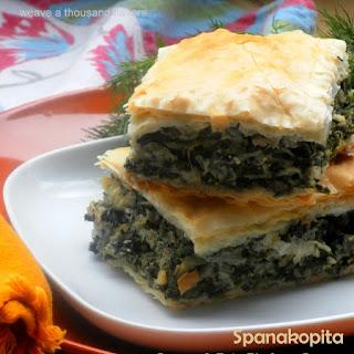 Authentic Greek Spanakopita ~ Greens & Feta Pie from the Land of Plato