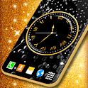 Black HD Clocks Live Wallpaper ❤️ Clock Wallpapers icon