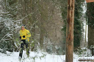 Photo: The snow did not put off this runner