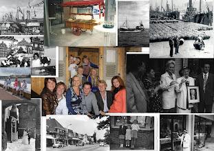 Photo: Een terugblik op de nieuwe haringtijd,  de foto's boven laten zien hoe vlaggetjesdag feestelijk werd ingezet, ook de zaak en haringkar werden met vlaggetjes versiert!  Wij vonden het dan altijd een drukke, maar een gezellige periode.  Huib met de haringkar bij de wittekerk en mijn ouders en ik zorgden voor de zaak.  Foto links de  verbouwde zaak in1970 aan de Kennemerstraatweg in1945 zijn mijn ouders daar gestart. Na 25 jaar werd de zaak overgedragen aan Huib en Annemarie. In 1995  opende Huib en Yvette de nieuwe zaak in het winkelcentrum 't Loo. De derde generatie Huib. Mijn moeder op 80 jarige leeftijd verrichte met het doorknippen van het lint de opening, geweldig heeft ze dat gevonden. Huib en Annemarie kijken vol trots naar het jonge stel en toosten  op veel geluk, werkplezier en een goede voortzetting.   De foto die mijn moeder overhandigde van  mijn vader hangt aan de muur in de zaak, de grondlegger mag niet ontbreken zei ze, wat had hij het geweldig gevonden als hij deze dag had mogen meemaken.