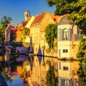 Bruges Old Town by Rory McDonald - City,  Street & Park  Historic Districts ( old town, bruges, canal )