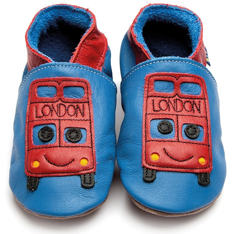 Inch Blue Soft Sole Leather Shoes - Bus Blue (2-3 years)