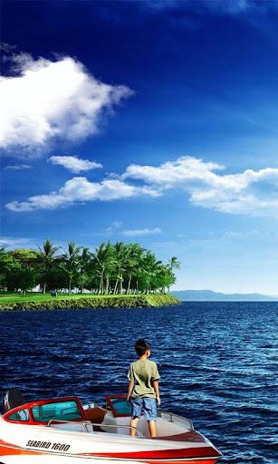 Blue Sky and Blue Sea Free LWP