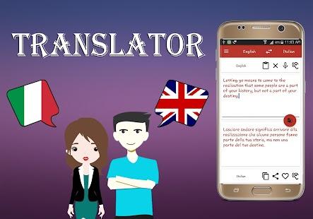Italian To English Translator - náhled