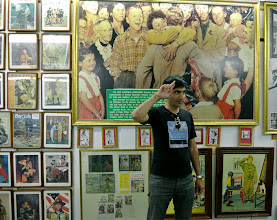 Photo: At the Norman Rockwell exhibit in Manchester, Vermont.