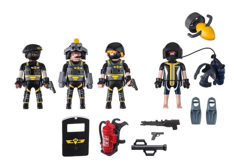 Contenido real de Playmobil® 9365 Equipo de las fuerzas Especiales
