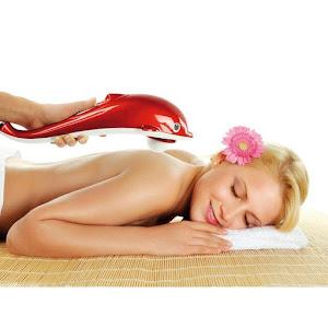 Aparat de facut masaj cu vibratii, infrarosu, 3 capete, delfin