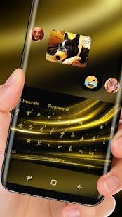 Gold Keyboard Luxury Silk Golden Light - náhled