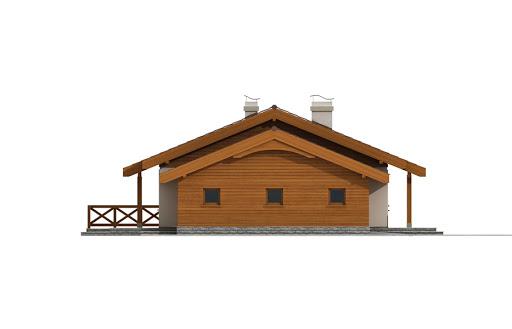 Anulka z garażem w technologii drewnianej - Elewacja lewa