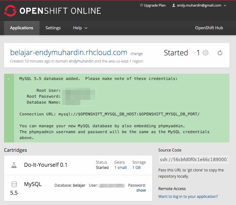Konfigurasi MySQL