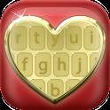 Golden Love Keyboard Design icon
