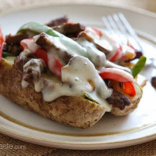 Loaded Philly Cheesesteak Baked Potato.